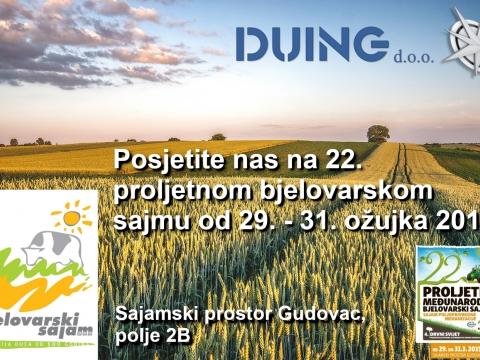 DUING izlagao na međunarodnom proljetnom bjelovarskom sajmu 2019